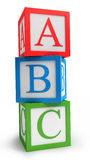 Abc cubes. Isolated on white vector illustration