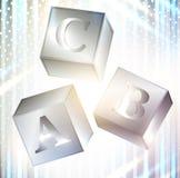 Abc cubes Royalty Free Stock Photo