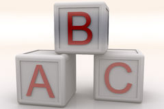 ABC Cubes. Rendered ABC Cubes royalty free illustration