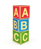 ABC cubes Stock Images