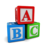 Abc cubes Stock Image