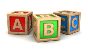 Abc cubes Stock Photography