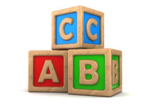 abc cubes Royalty Free Stock Photography