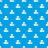ABC cubes pattern seamless blue. ABC cubes pattern repeat seamless in blue color for any design. Vector geometric illustration Stock Images