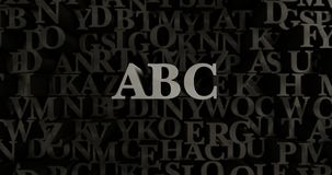 ABC - 3D rendered metallic typeset headline illustration. Can be used for an online banner ad or a print postcard Royalty Free Stock Image