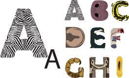 ABC de animais selvagens Imagens de Stock Royalty Free