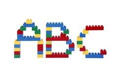 ABC de bloques huecos plásticos Imagen de archivo libre de regalías