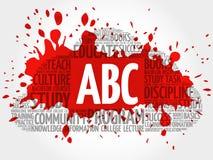 ABC-de collage van de woordwolk Royalty-vrije Stock Afbeelding
