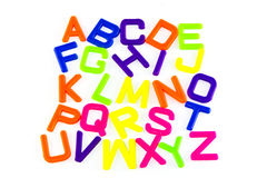 ABC de la letra Fotografía de archivo