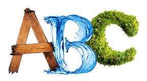ABC de la naturaleza Imágenes de archivo libres de regalías