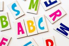 ABC de la palabra hecho de letras coloridas Imagenes de archivo