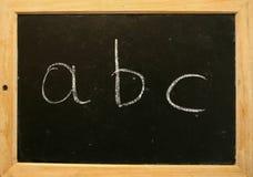 ABC de la pizarra Foto de archivo