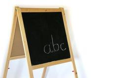 ABC de la pizarra fotografía de archivo