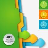 ABC de la plantilla Fotografía de archivo libre de regalías