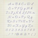 ABC de la pluma del vector Imagen de archivo libre de regalías