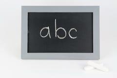 ABC de la tabla con tiza Foto de archivo libre de regalías
