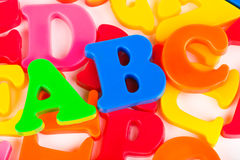 ABC de las letras Foto de archivo libre de regalías