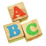 ABC de madera Imagen de archivo libre de regalías