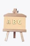 ABC de madera Fotografía de archivo libre de regalías