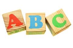 ABC de madera de las letras Imágenes de archivo libres de regalías