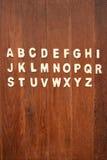 ABC de madera pone letras a alfabeto Fotografía de archivo libre de regalías