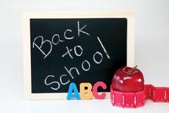 ABC de nuevo a fuentes de escuela Imágenes de archivo libres de regalías