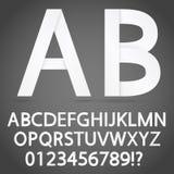 ABC de papel da sombra Fotografia de Stock Royalty Free