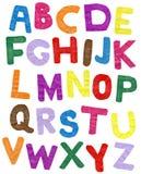 ABC de papel del color Ilustración del Vector