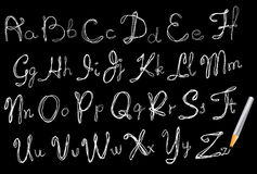 ABC, de tekeningsalfabet van de Hand Stock Afbeelding