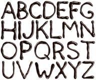 ABC del cioccolato Fotografie Stock Libere da Diritti