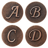 ABC del metal Imagenes de archivo