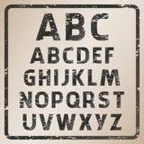 ABC del sello de goma del vector ilustración del vector