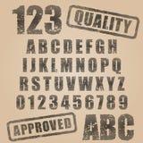 ABC del timbro di gomma di vettore royalty illustrazione gratis