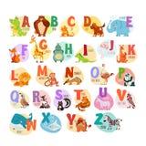 ABC dell'animale per istruzione prescolastica Immagini Stock