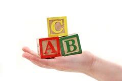 ABC della holding Immagine Stock