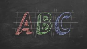 ABC illustration libre de droits