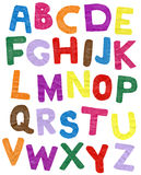 ABC di carta di colore Immagini Stock