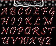 ABC di Natale dalle lettere maiuscole royalty illustrazione gratis