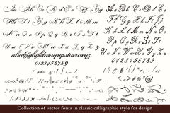 ABC dibujado mano inglesa en estilo clásico del vintage Foto de archivo