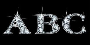 ABC do diamante Imagens de Stock Royalty Free