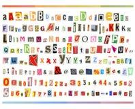 ABC do grampeamento imagens de stock