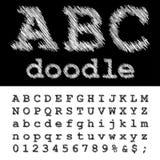 Abc doodle Στοκ εικόνα με δικαίωμα ελεύθερης χρήσης