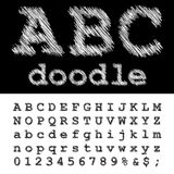 Abc doodle Royalty Free Stock Image
