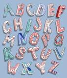 ABC  doodles type Royalty Free Stock Photo