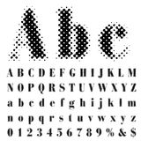 Abc dot. Original dotted raster font stock illustration