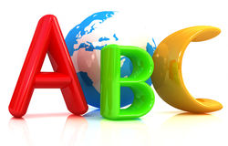 Abc and earth Royalty Free Stock Photo