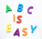 ABC is EASY royalty free stock photo
