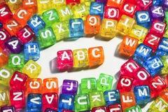 ABC - El alfabeto Imagen de archivo libre de regalías
