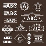 ABC-Embleem Royalty-vrije Stock Foto