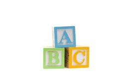 ABC en bloques de madera del niño Foto de archivo libre de regalías